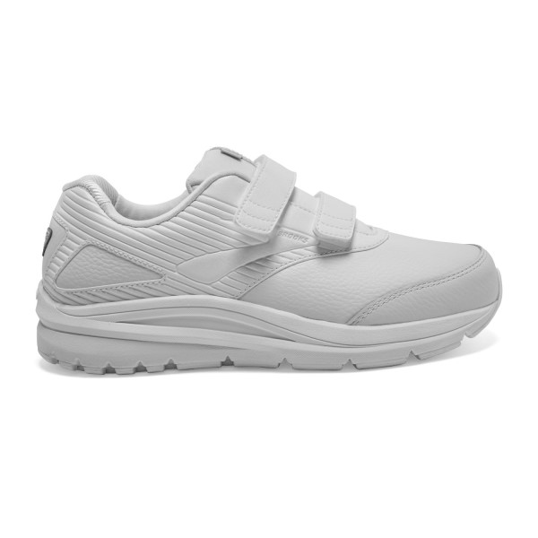 Fitness Mania – Brooks Addiction Walker 2 Leather Velcro – Womens Walking Shoes – White