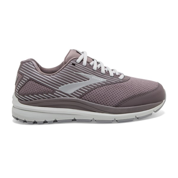 Fitness Mania – Brooks Addiction Walker 2 Suede – Womens Walking Shoes – Shark/Alloy/Oyster