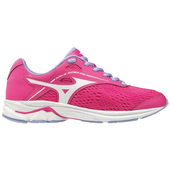 Fitness Mania – Mizuno Wave Rider 23 – Kids Girls Running Shoes – Athena/White/Jacaranda