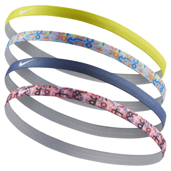 Fitness Mania – Nike Print Kids Girls Headbands – Assorted 4 Pack – Pink Nebula/Diffused Blue/Blue Chill