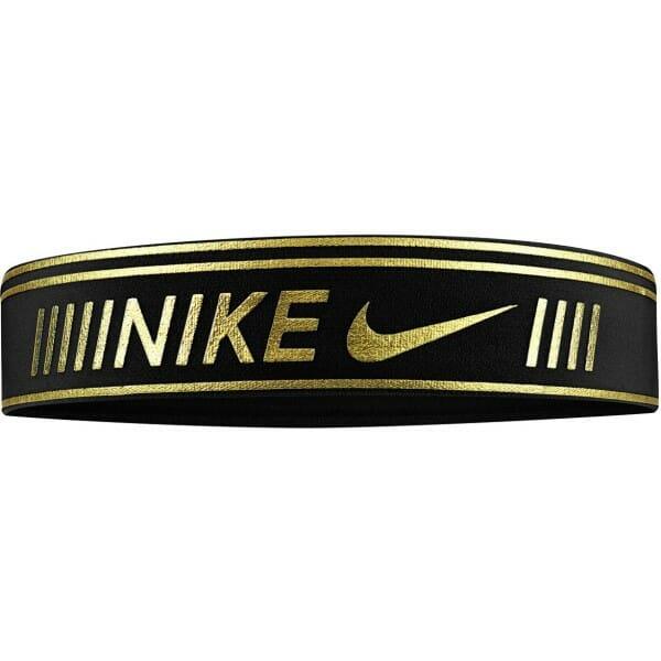 Fitness Mania – Nike Pro Metallic Sports Headband – Black/Metallic Gold