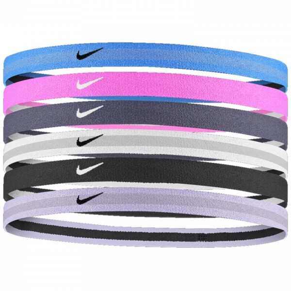 Fitness Mania – Nike Swoosh Sports Headband – Assorted 6 Pack – University Blue/China Rose