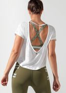 Fitness Mania - Mist Cropped Short Sleeve Top