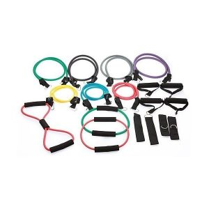 Fitness Mania - 19 Piece Resistance Exercise Bands Set