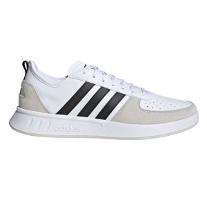 Fitness Mania - Adidas Court 80s - Mens Sneakers - Cloud White/Core Black/Raw White