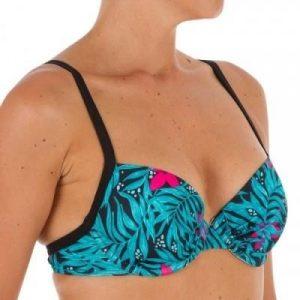 Fitness Mania - Elo Women's Balconet Swimsuit Top with U or X Back - Bali Black