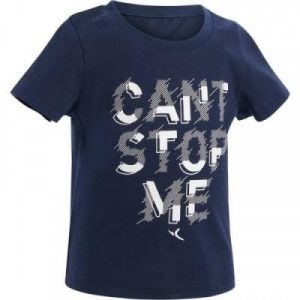 Fitness Mania - 100 Baby Gym Short-Sleeved T-Shirt - Navy Blue Print