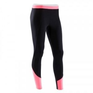 Fitness Mania - 100 Women's Cardio Fitness Leggings - Black and Pink