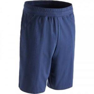Fitness Mania - 500 Regular-Fit Knee-Length Slim-Fit Gym & Pilates Shorts - Navy Blue
