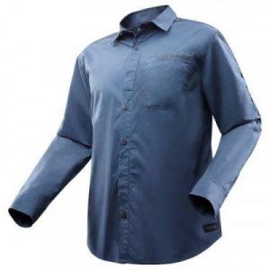 Fitness Mania - Travel 500 Men's Roll-Up Long-Sleeved Shirt - Blue