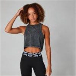 Fitness Mania - Acid Wash Reach Vest - Black