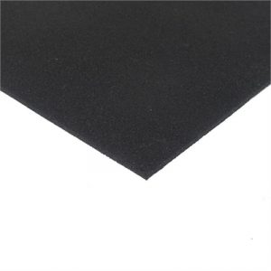 Fitness Mania - Economy Rubber Floor Tiles Gym Tile - 1m x 1m x 8mm - no bevelled edge(black)