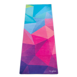 Fitness Mania - Yoga Design Lab Whipstitch Mat Towel - Geo