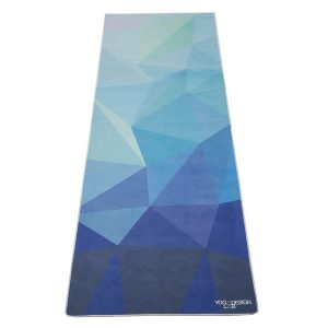 Fitness Mania - Yoga Design Lab Whipstitch Mat Towel - Geo Blue