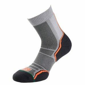 Fitness Mania - 1000 Mile Trail Mens Sports Socks - Twin Pack - Grey