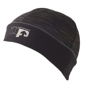 Fitness Mania - 1000 Mile UP Reflective Running Beanie - Black/Reflective