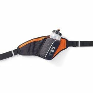 Fitness Mania - 1000 Mile UP Ribble II Hydration Belt With Water Bottle - 650ml - Black/Orange