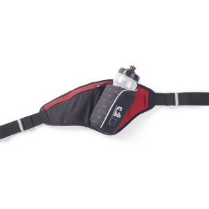 Fitness Mania - 1000 Mile UP Ribble II Hydration Belt With Water Bottle - 650ml - Black/Red