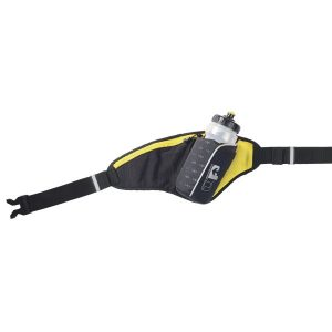 Fitness Mania - 1000 Mile UP Ribble II Hydration Belt With Water Bottle - 650ml - Black/Yellow