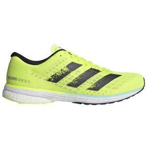 Fitness Mania - Adidas Adizero Adios 5 - Mens Running Shoes - Solar Yellow/Core Black/Clear Aqua