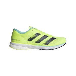 Fitness Mania - Adidas Adizero Adios 5 - Womens Running Shoes - Hi-Res Yellow/Crew Navy/ Clear Aqua
