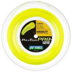 Fitness Mania - Yonex Poly Tour Pro 1.25 Tennis String Reel 200m - Yellow
