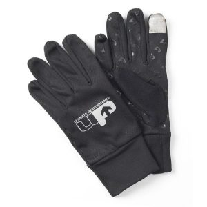 Fitness Mania - 1000 Mile UP Reflective Running Gloves - Black/Reflective