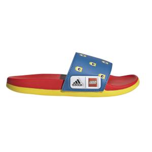Fitness Mania - Adidas Adilette Comfort X Lego - Kids Slides - Shock Blue/Red