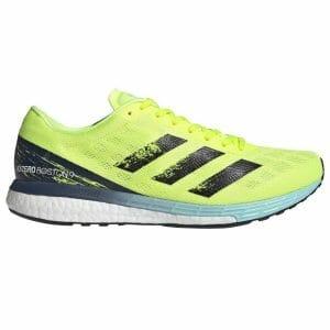 Fitness Mania - Adidas Adizero Boston 9 - Mens Running Shoes - Solar Yellow/Core Black/Clear Aqua