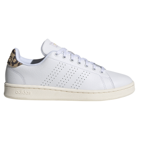 Fitness Mania - Adidas Advantage - Womens Sneakers - Cloud White/Gold Metallic Print