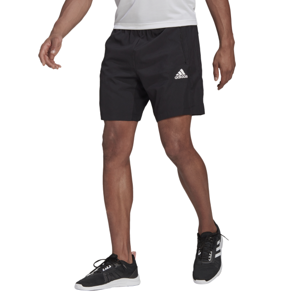 Fitness Mania – Adidas Aeroready D2M Woven Mens Training Shorts – Black