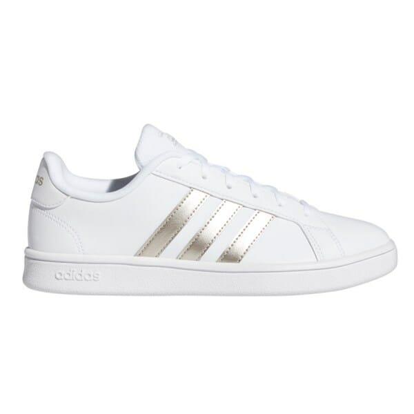 Fitness Mania – Adidas Grand Court Base – Womens Sneakers – Footwear White/Platinum Metallic