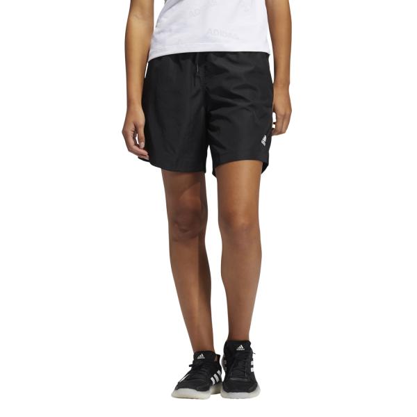 Fitness Mania – Adidas Woven Long-Length Womens Training Shorts – Black/White