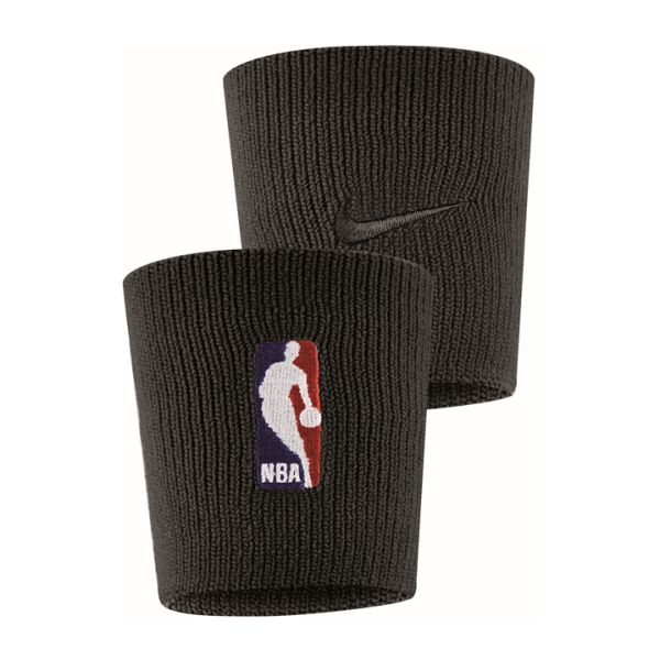 Fitness Mania – Nike NBA On Court Wristbands – Black/White