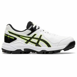 Fitness Mania - Asics Gel Peake GS - Kids Cricket Shoes - White/Black
