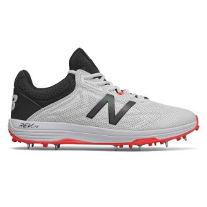 Fitness Mania - New Balance 10v4 - Mens Cricket Shoes - White/Black/Red
