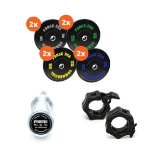 Fitness Mania - Force USA 170kg Bumper Plate Package 3