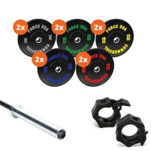 Fitness Mania - Force USA 170kg Bumper Plate Package