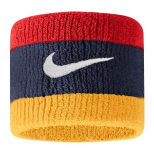 Fitness Mania - Nike Swoosh Wristbands - Mid Navy/University Red/Gold/White