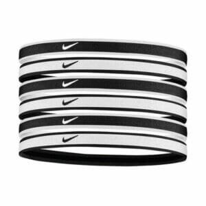 Fitness Mania - Nike Tipped Swoosh Sport Headbands - 6 Pack - White/Black