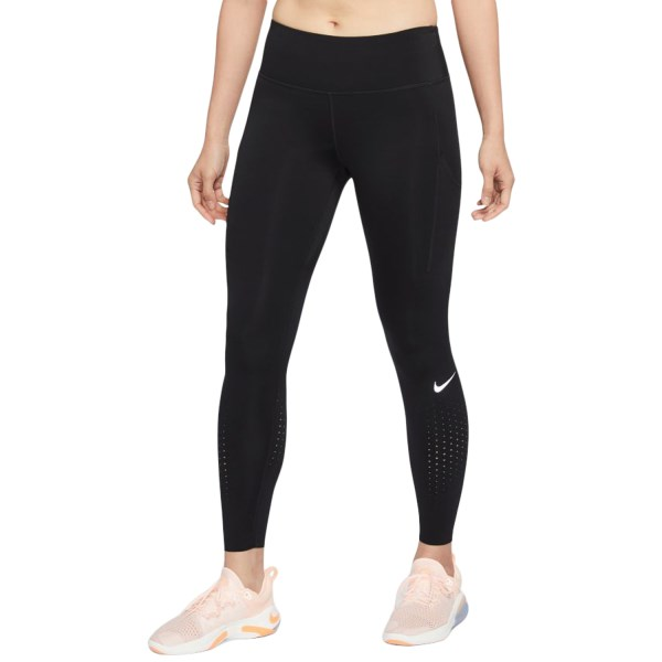 Fitness Mania – Nike Epic Luxe Womens Running Tights – Black/Reflective Silver