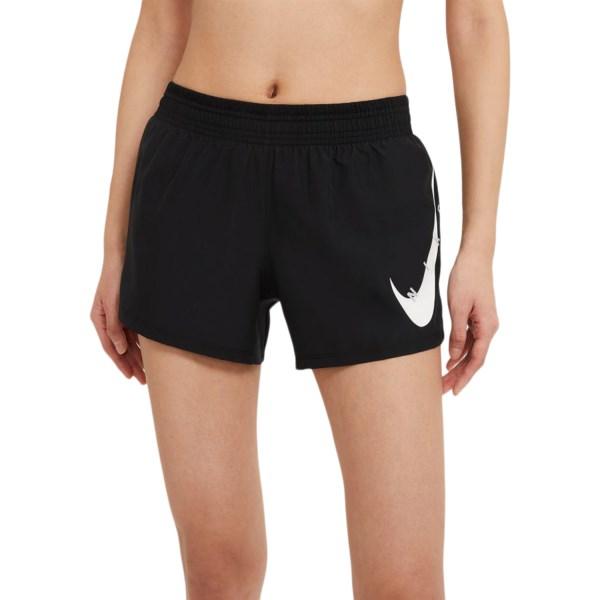 Fitness Mania – Nike Swoosh Run Womens Running Shorts – Black/White