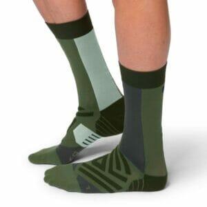 Fitness Mania - On Mens Running High Socks - Forest/Moss