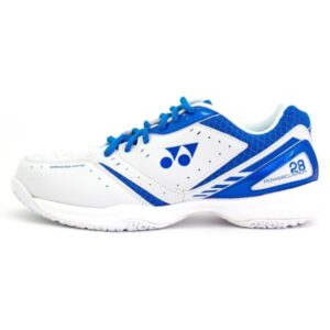 Fitness Mania - Yonex Power Cushion 28 Mens Indoor Court Shoes - White/Blue