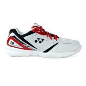 Fitness Mania - Yonex Power Cushion 28 Mens Indoor Court Shoes - White/Red