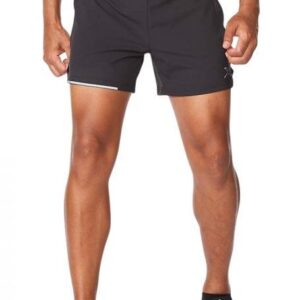 Fitness Mania - 2Xu Aero 5 Inch Shorts Mens Black Silver Reflective