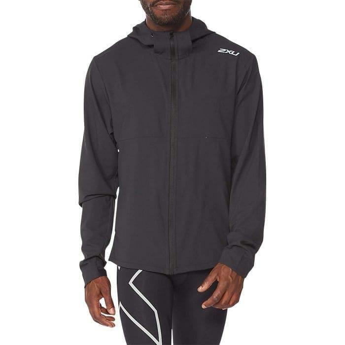 Fitness Mania – 2Xu Aero Jacket Mens Black Silver Reflective