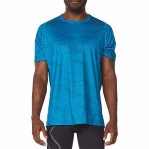 Fitness Mania - 2Xu Light Speed Tee Mens Linear Aquamarine Black Reflective