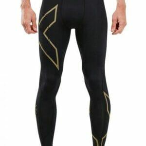 Fitness Mania - 2Xu Mcs Run Compression Tight Mens Black Gold Reflective
