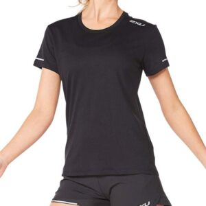 Fitness Mania - 2Xu Aero Tee Womens Black Silver Reflective